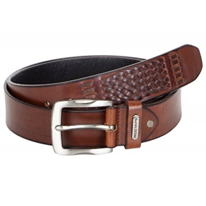 Red Tape Men's Brown Leather Belt