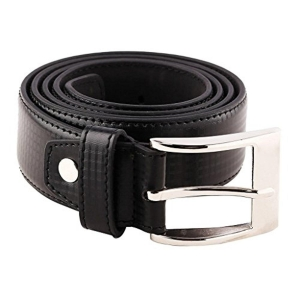 B&W Classic Men's Black Solid Leather Belt