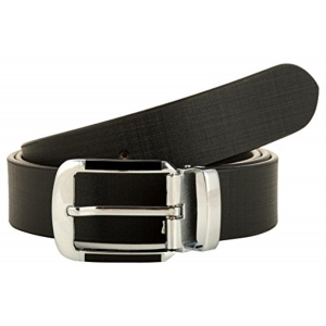 Hill $ Oliver Men's Black Leather Belt