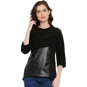 Roadster Black Full Sleeve Solid High Low Sweatshirt