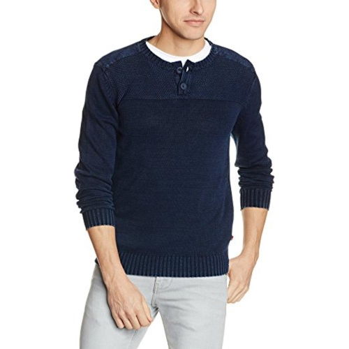 Buy Levi's Men's Navy Blue Cotton Sweater online | Looksgud.in