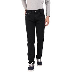 Outdoor Men's Black Solid Super Stretch Jeans
