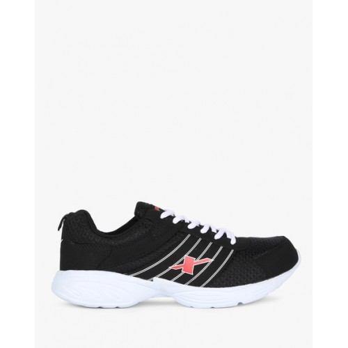 Sparx SX0271G Black Mesh Lace-up Running Shoes
