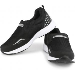 Rich N Topp Black Slip On Training & Gym Shoes