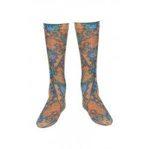 Zivame Blue Floral Printed Full Length Socks