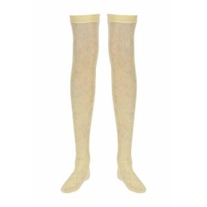 Zivame Yellow Solid Seamless Full Length Socks