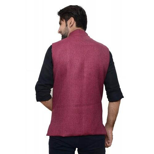 Oora Cherry Solid Poly Cotton Nehru Jacket