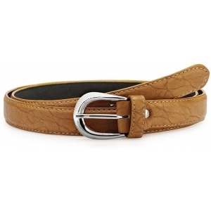 Verceys Women's Tan Casual Genuine Leather Belt