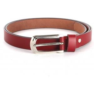 WildHorn Women's Red Genuine Leather Belt