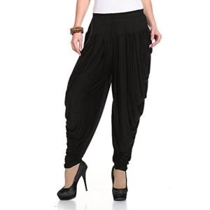 Legis Black Solid Cotton Lycra Dhoti Salwar