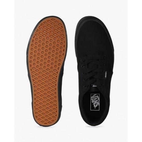 Vans Maroon Canvas Low ankle Sneakers