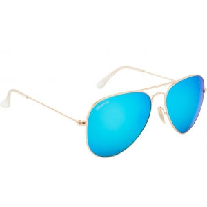 O Positive Blue Full Frame Aviator Sunglasses