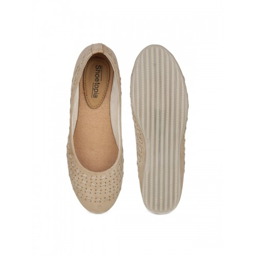 Shoetopia Brown  Synthetic Slip-On Casual Bellies