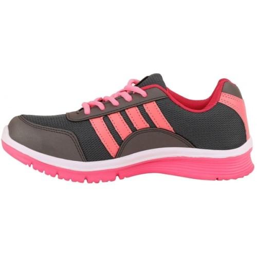 Chevit Women's Pink & Gray Sports Shoes