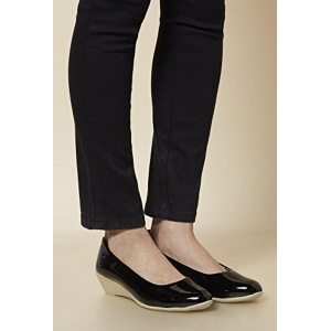 Trase Black  Leather Formal Shoes For Women