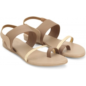 Star Style Brown Synthetic Flat Sandals