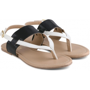 Carlton London Beige Synthetic Casual Flat Sandal