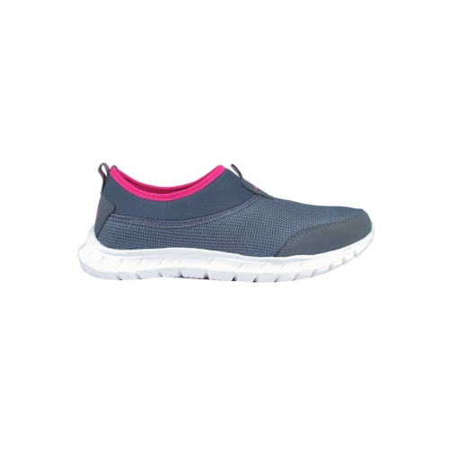 Asian Grey Mesh Slip On Sports Shoes