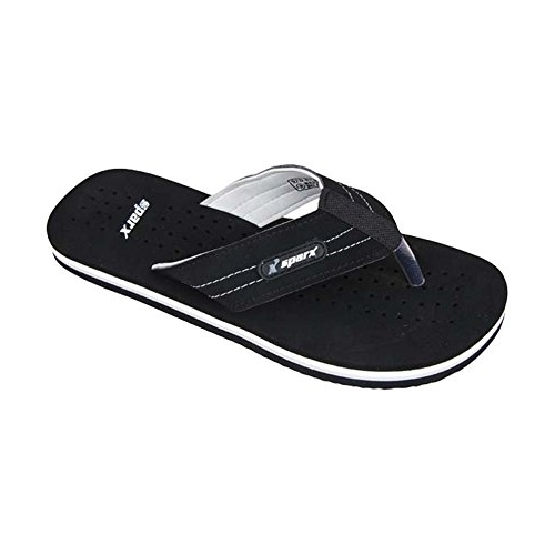 Sparx Black Rubber Casual Slippers