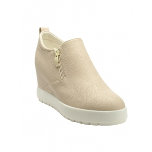 flat n heels beige faux leather ankle boot