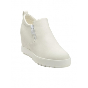 flat n heels white faux leather ankle boot