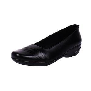 Footshez Black Leather Slip On Formal Shoes