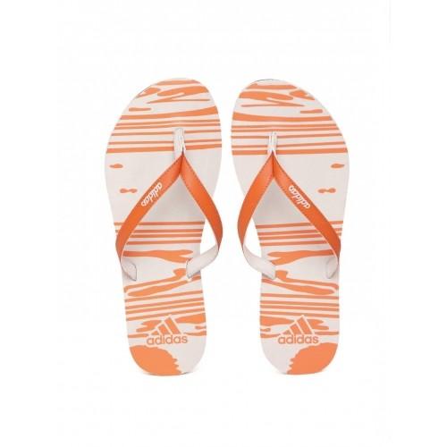 ae1370089bcb57 Buy Adidas Orange   Off-White Rubber Jung Printed Flip-Flops online ...