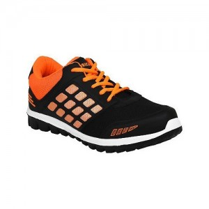 Oricum Black Synthetic Lace Up Sports Shoes