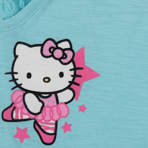 Hello Kitty Short For Girls Printed Cotton Linen Blend, Cotton Nylon Blend, Cotton Linen Blend