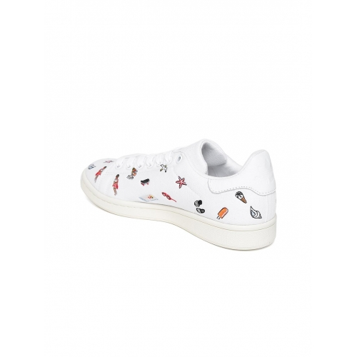 official photos 9eb2d 9554a Buy Adidas Originals Women White Stan Smith Leather ...