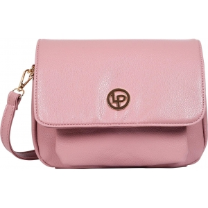 Lino Perros Women Pink Leatherette Sling Bag