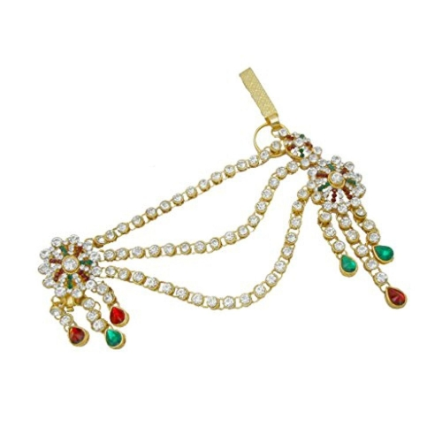 398733d19 ... My Design Antique Gold Plated Saree Pin Brooch Juda Kamarband For Women  And Girls ...