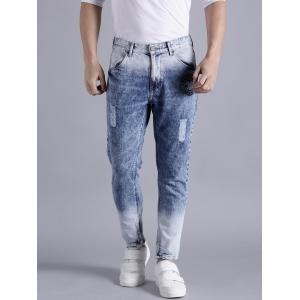 Kook N Keech Marvel Blue Regular Fit Mid-Rise Distress Jeans