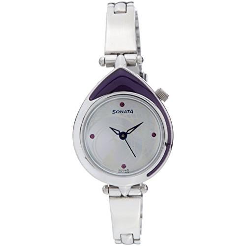 Sonata Sitara Analog Silver Dial Watch - 8119SM01