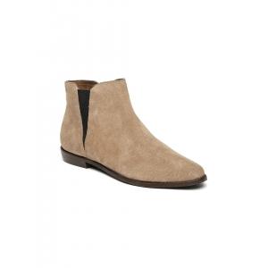 Carlton London Women Khaki Leather Flat Boots