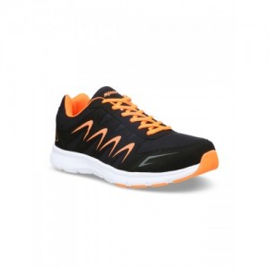 Sparx Black Mesh Lace Up Running Shoes