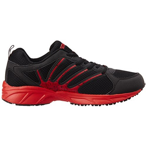 Sparx Black & Red Synthetic Leather Running Shoes