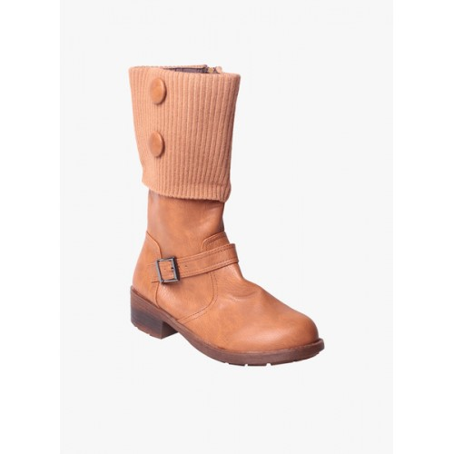 MSC beige calf boot
