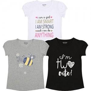 Minnow Girls Printed Short Sleeve Summer Cotton Tshirt