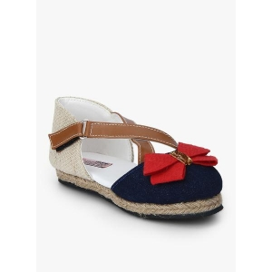 D'chica Navy Blue Synthetic Chicness Sandals