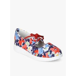 D'chica Multicoloured Canvas Floral Lace Up Shoes