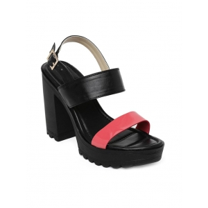 Bruno Manetti black faux leather back strap sandals