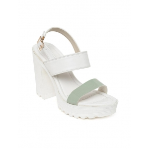 Bruno Manetti white faux leather back strap sandals