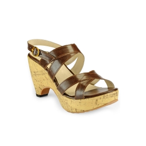 NELL brown leatherette sandals