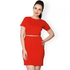 Miss Chase Red Relaxed Fit Dress