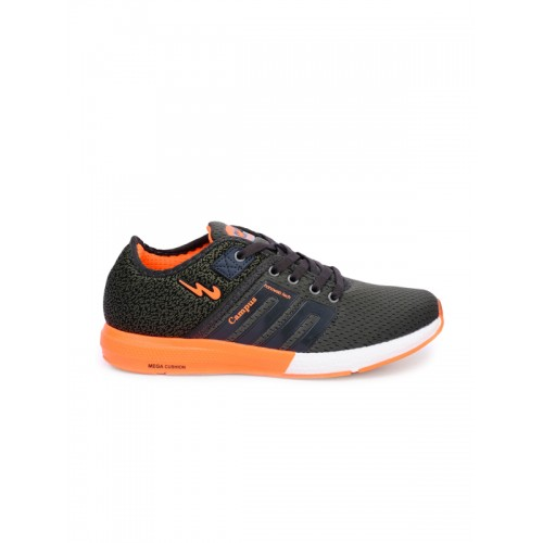 Campus BATTLE Black Mash,Synthetic Sports Running Shoes