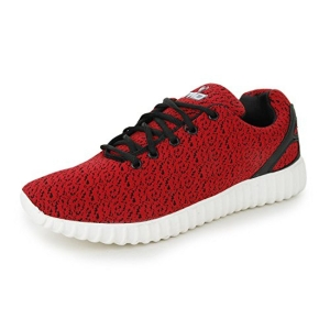 Trase TWD Men's Red Comfy Sports Running Shoes