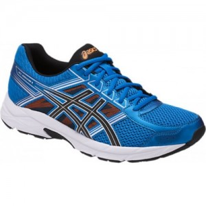 Asics GEL-CONTEND 4 Blue Synthetic Lace up Running Shoes