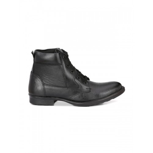 mactree men's black leather boots