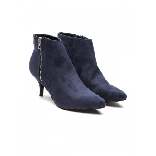 Carlton London Navy Blue synthetic Ankle Length Boots